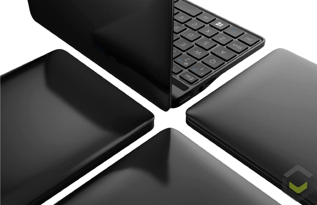 GPD Pocket 2 Celeron Edition in Amber Black from various angles