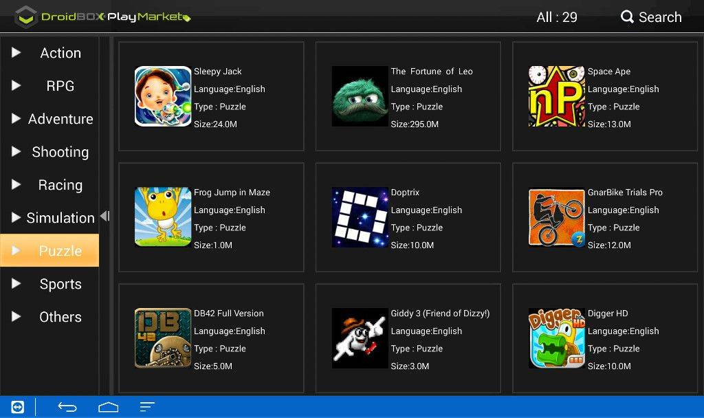 6--DBPM-Android games menu