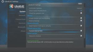 Format Option Returned To LibreELEC