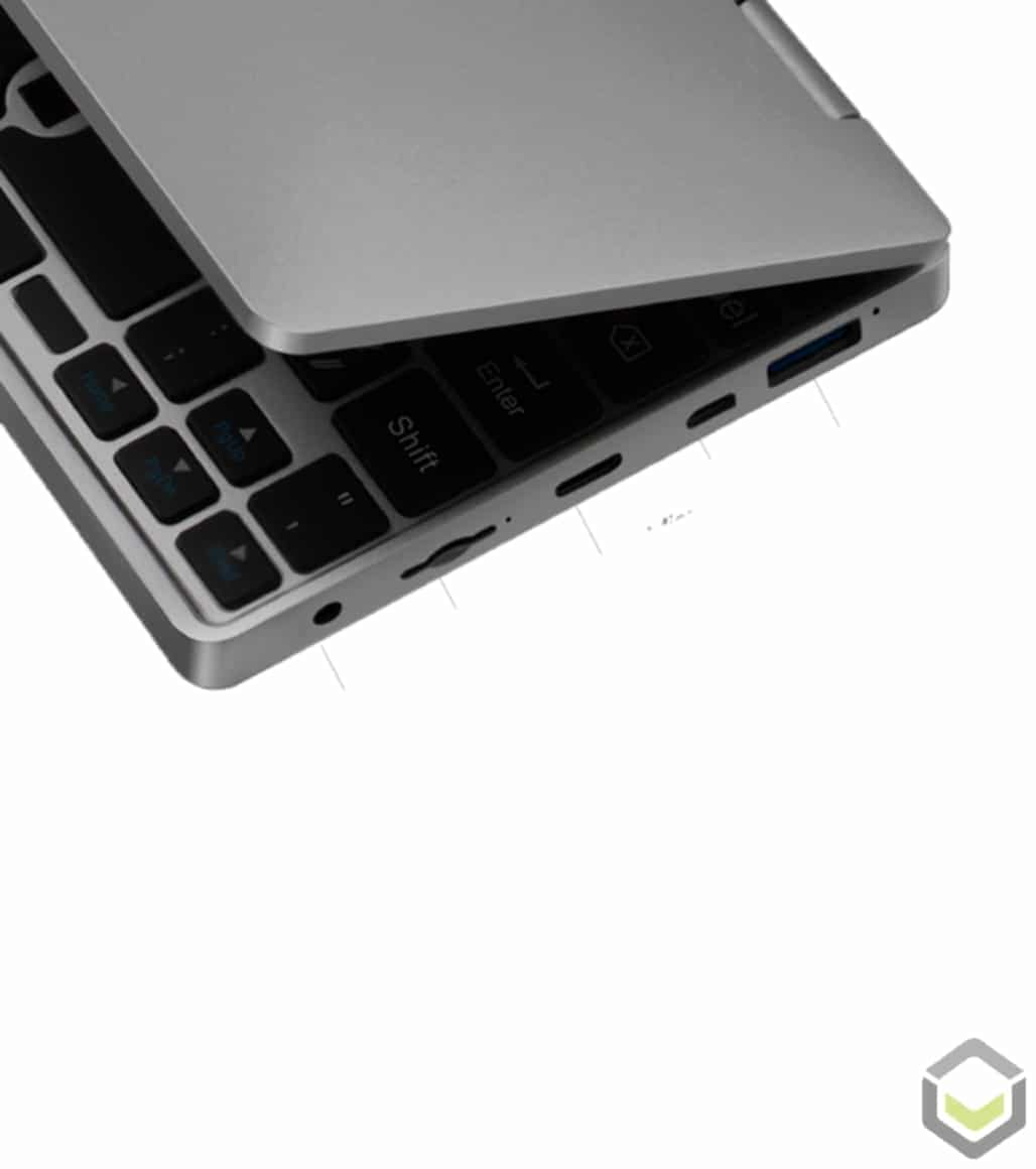 One Netbook Mix 2S Mini Laptop I/O Ports