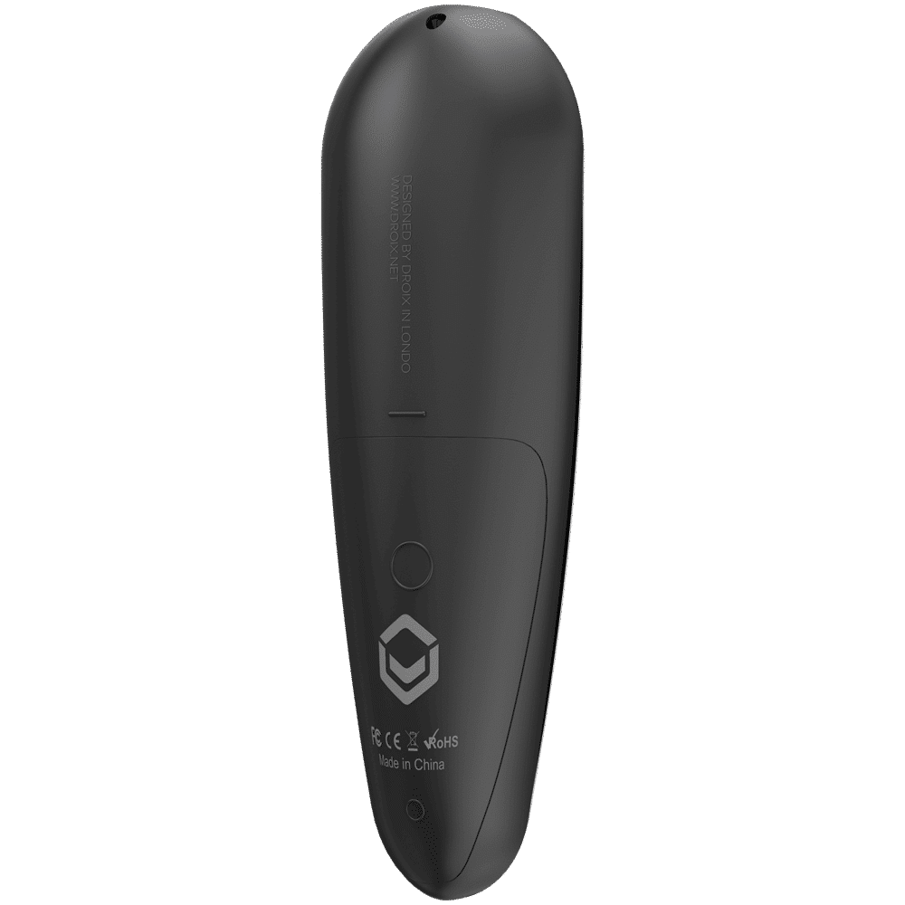 DroiX G30 Air-Mouse Remote with Gyroscope and Google Assistant - Rear View at angle