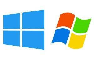 New and Old Windows logos