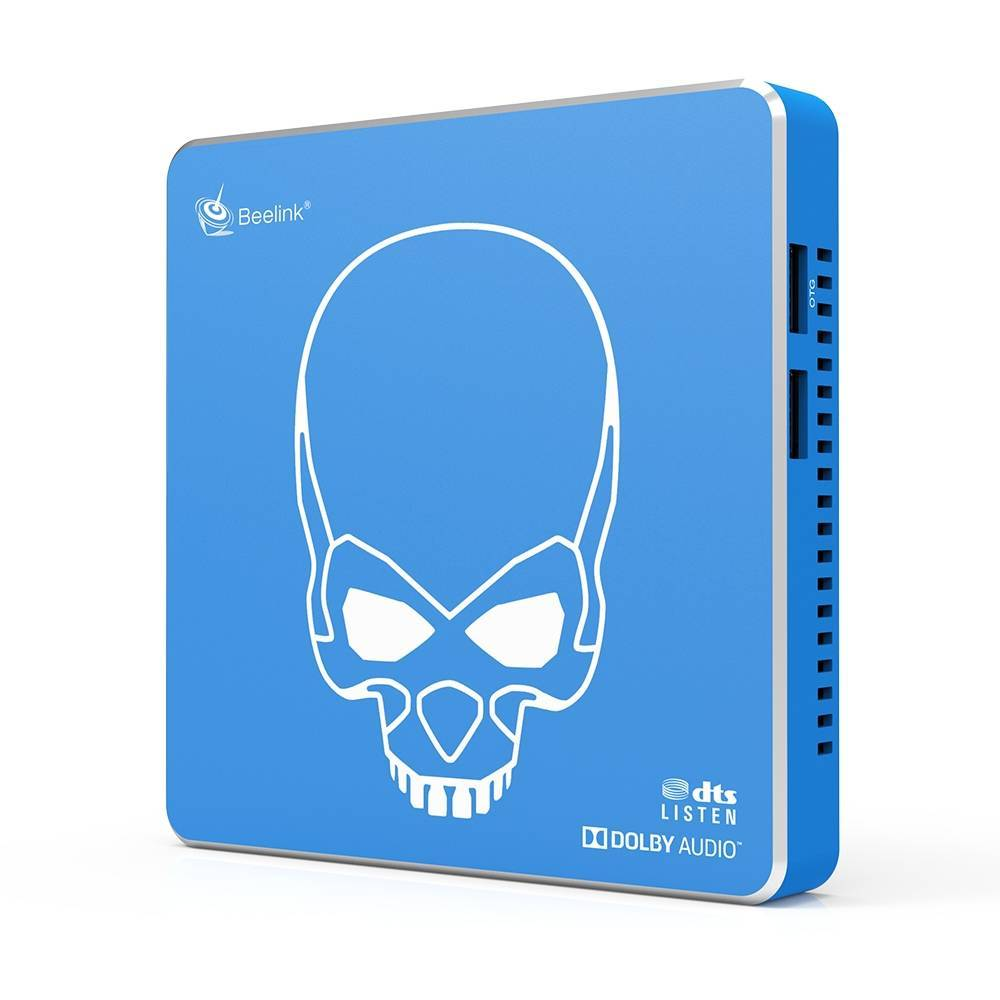 Beelink GT King PRO Android 9 Dolby DTS 4K UHD TV BOX - Standing Up showing right Side