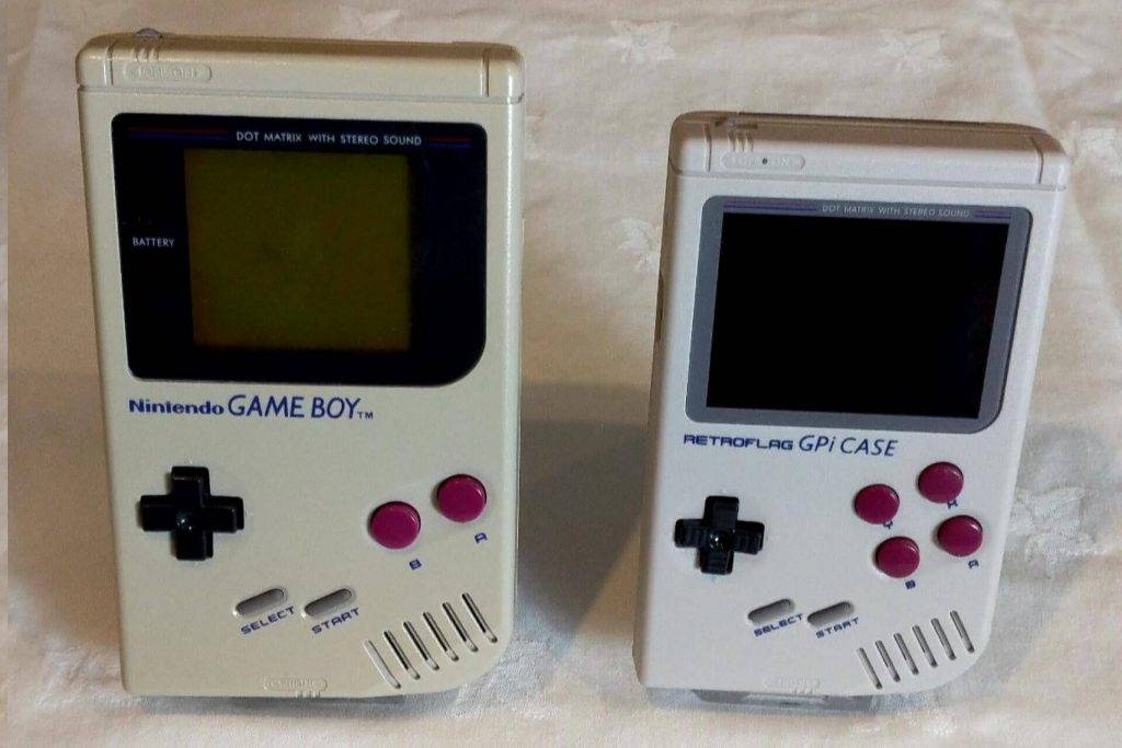 Gameboy DMG and a Retroflag GPi Case