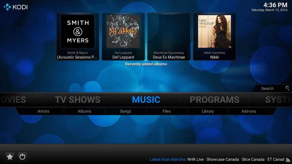 Kodi Music 1