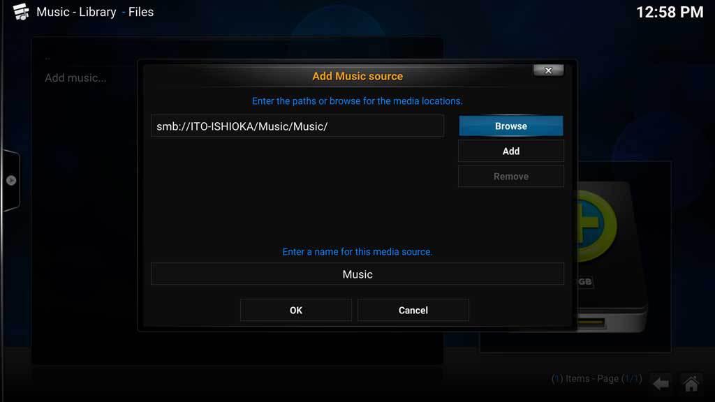 Kodi Music Add Music 6