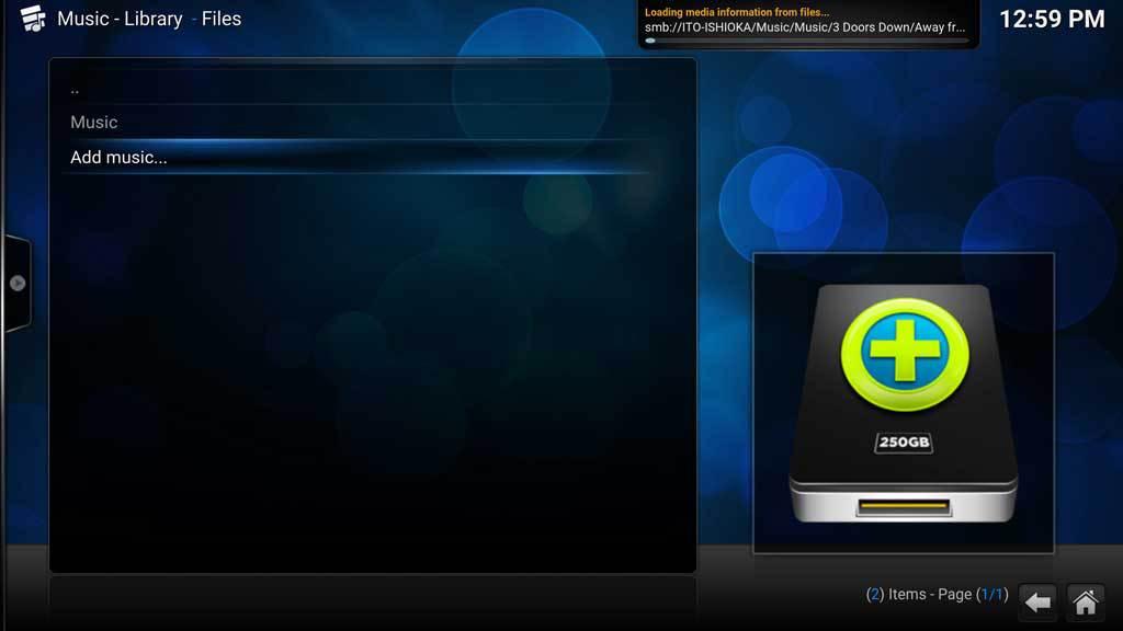 Kodi Music Add Music 8