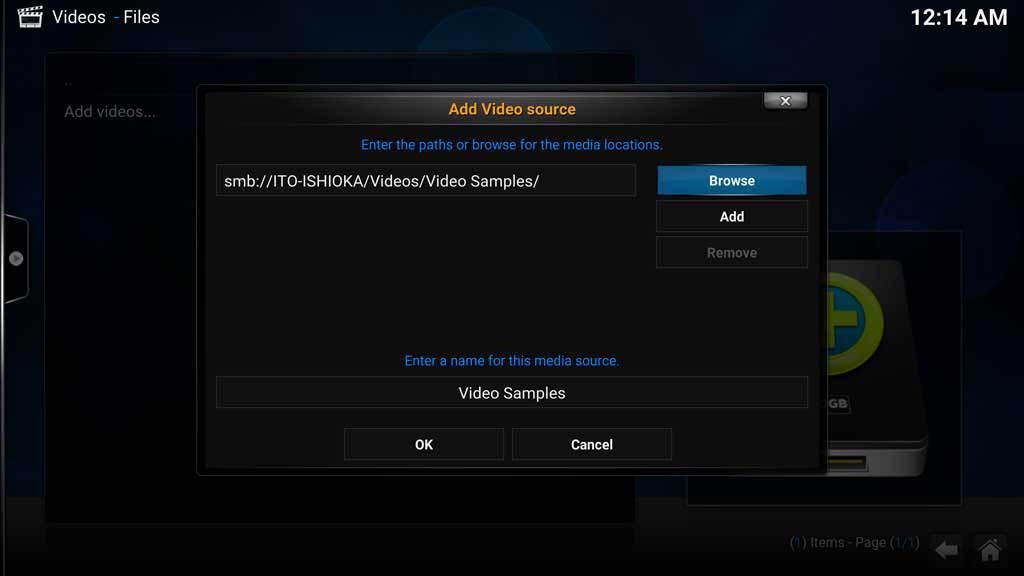 Kodi Video Add Videos 5 4 SMB