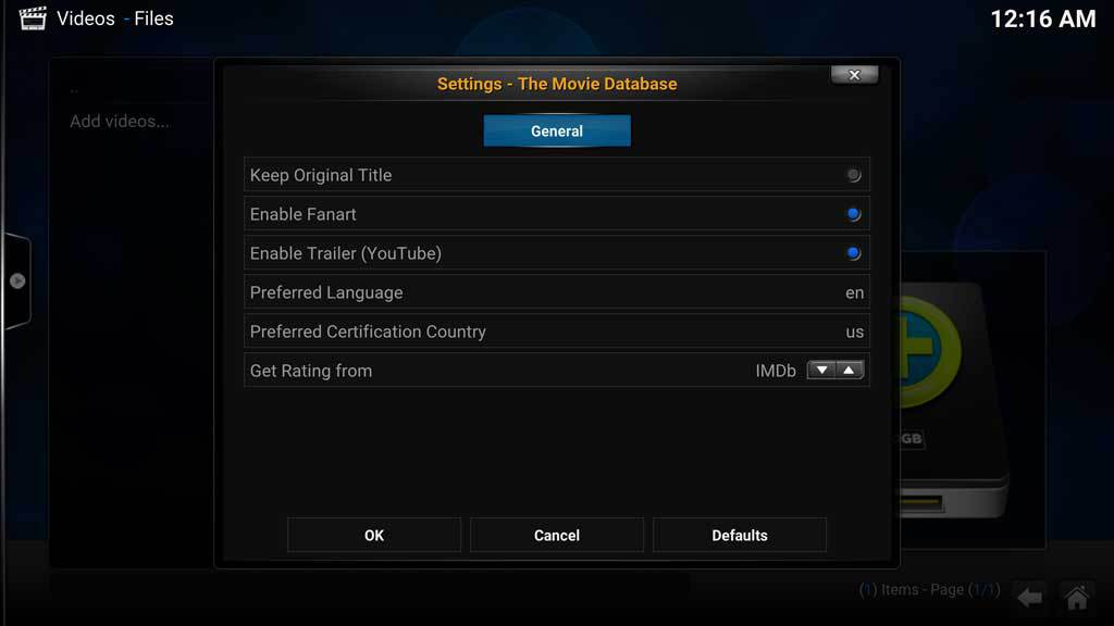 Kodi Video Add Videos 8 set content