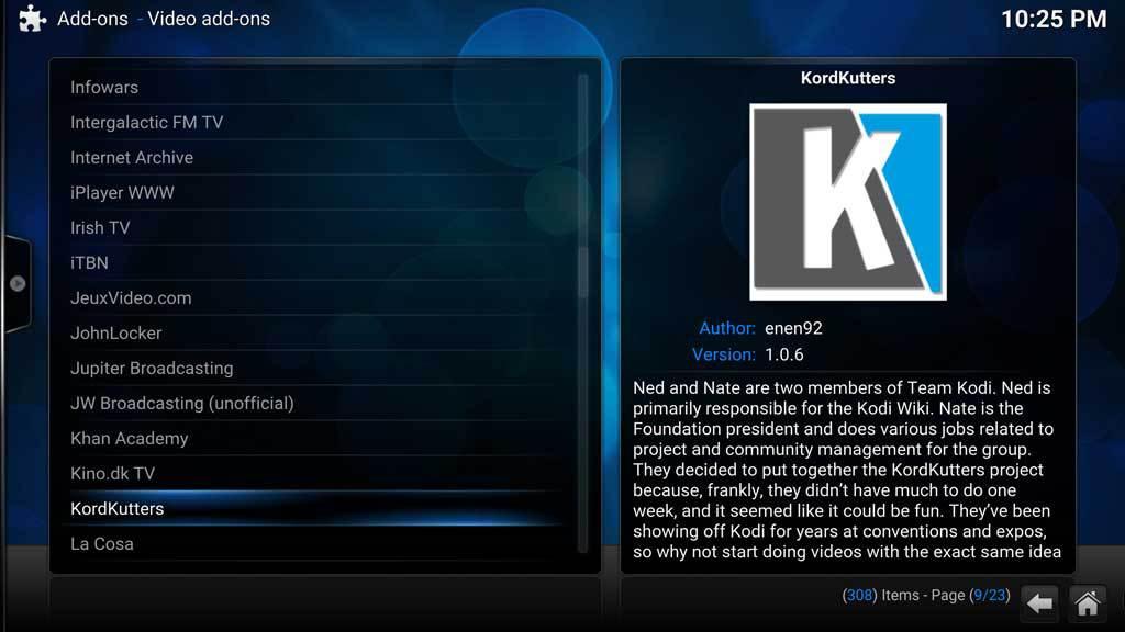 Kodi Video AddOns KordKutters 1