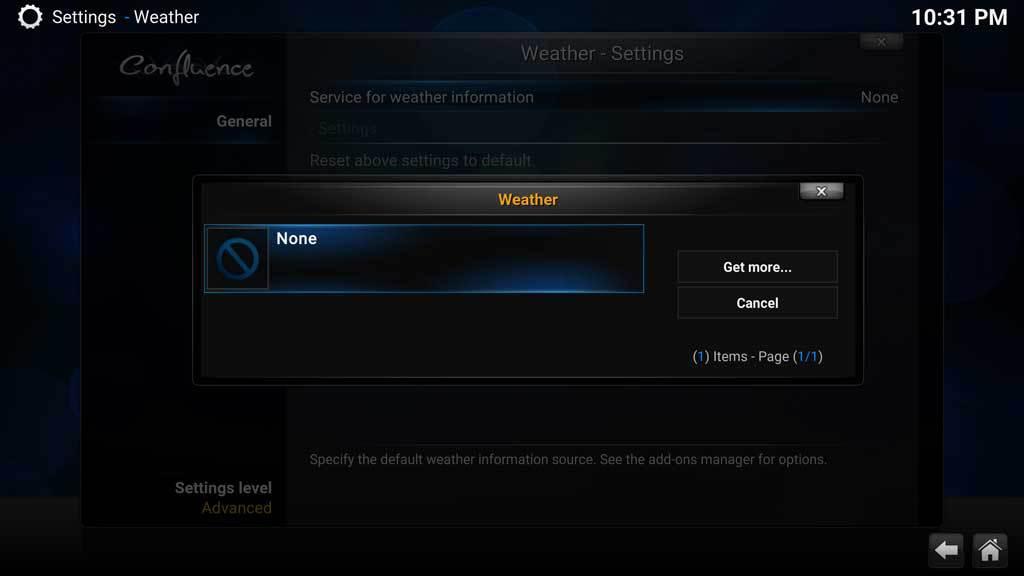 Kodi Weather 3