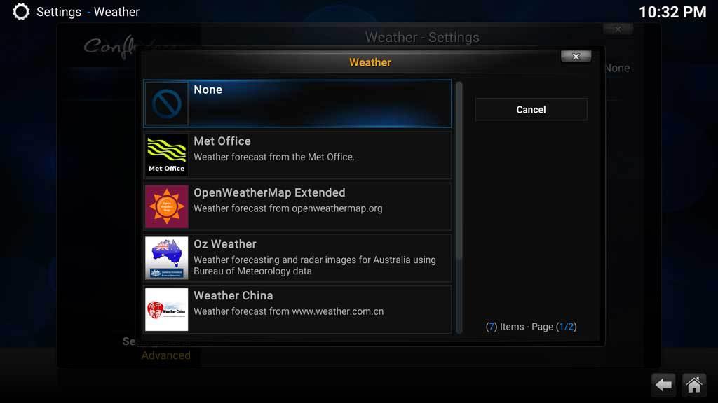 Kodi Weather 4