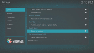 LibreELEC 8.0.2 LibreELEC Configuration c System Area Reboot to Android