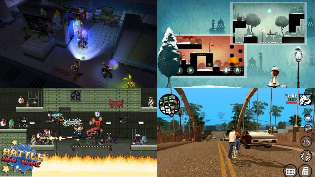 Just some of the many games you can play on the PlayON
