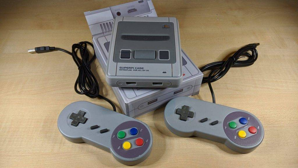 Retro Gaming System Console S Line with SNES controllers