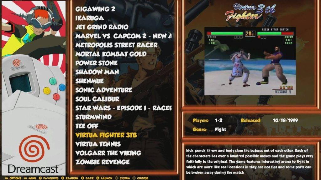 RetroPie with Dreamcast games
