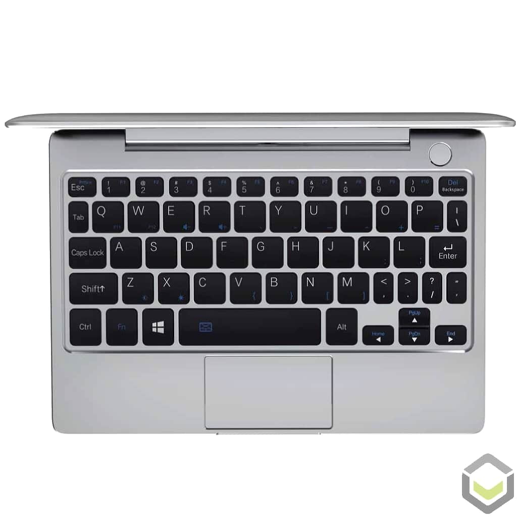 GPD P2 Max Celeron 3965Y 8GB RAM 256GB SSD Windows 10 2in1 Ultrabook Laptop - Showing full QWERTY Keyboard with Touchpad
