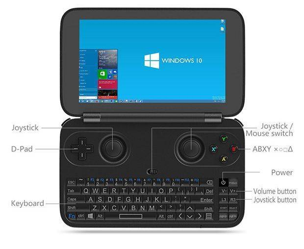 DroidBOX Win GPD Buttons Front