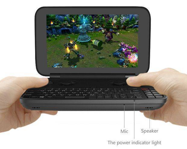 DroidBOX Win GPD Mic Speakers Power LED Front