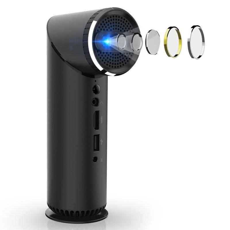 DroiX K5H Pico DLP Projector - Showing Lens Details
