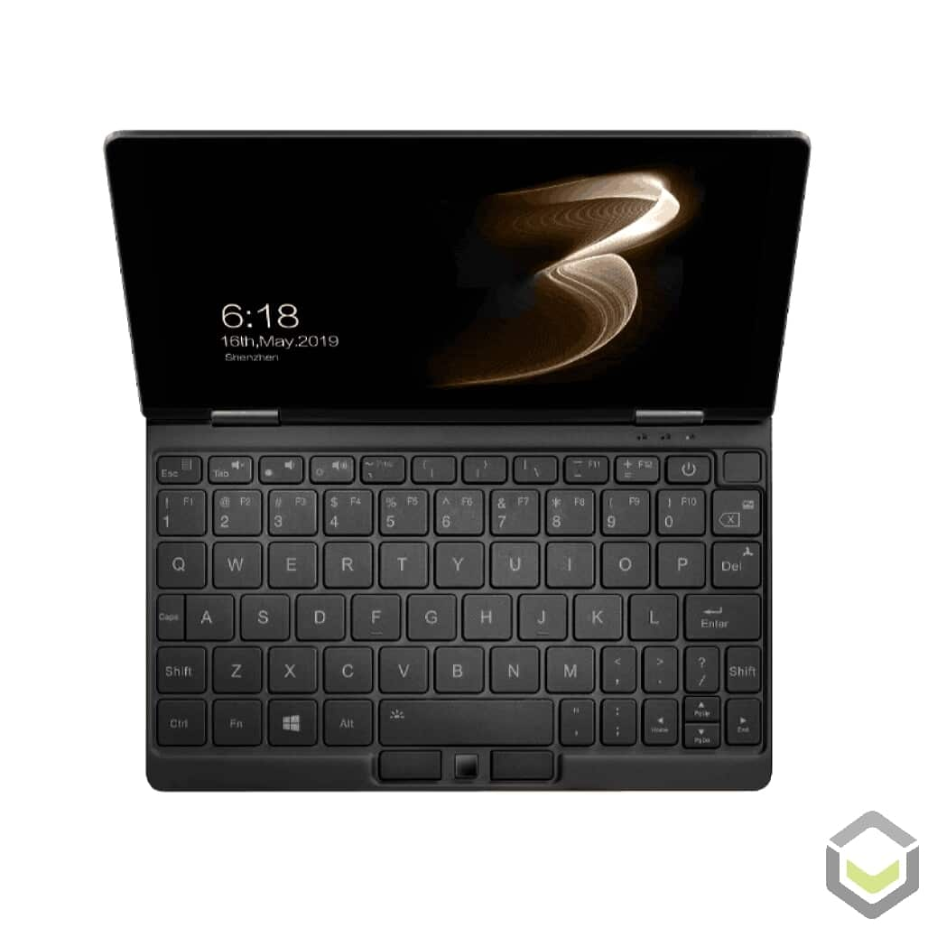 One Netbook Mix 3S Windows 10 UMPC YOGA Tablet - Showing Backlit Keyboard, fingerprint sensor and HQ Display