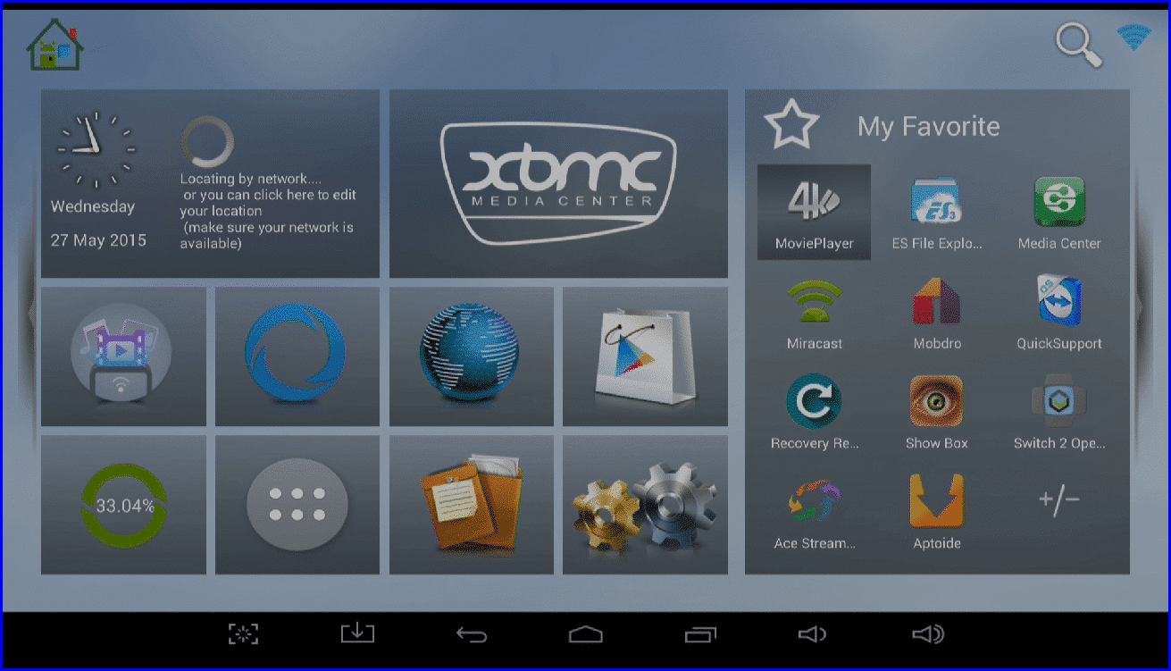 DroidBOX® T8 T8-S Launcher Homescreen