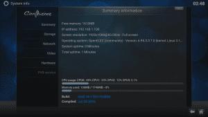 OpenELEC Kodi RAM Report