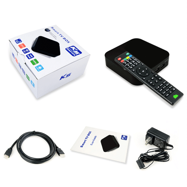 DroidBOX K5 (Refurbished) Android Set Top Box Contents
