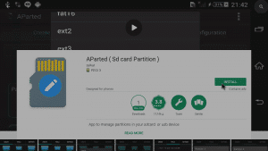 Play Store AParted Page