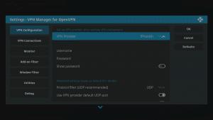 Kodi 17 LibreELEC VPN Manager for OpenVPN Configuration First Area VPN Provider