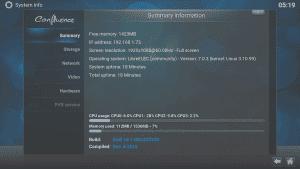 Kodi LibreELEC System System Info Results