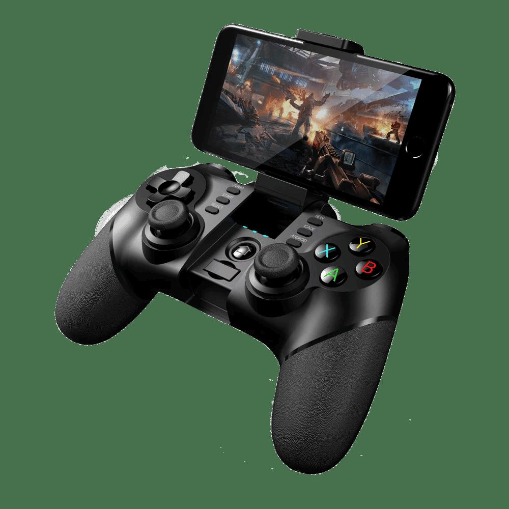 iPega 9076 Gamepad Angle-View Playing on a Smartphone