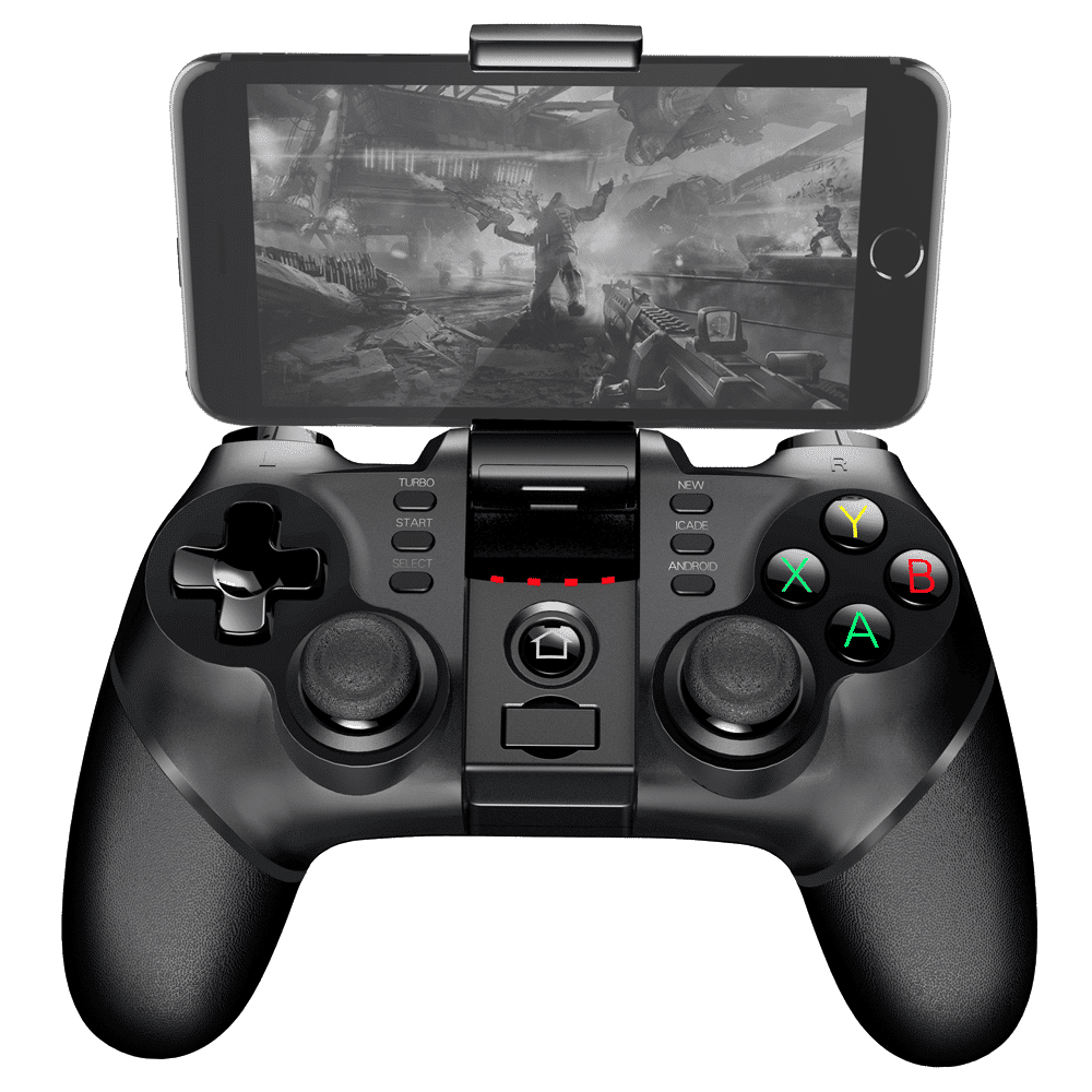 iPega 9076 Gamepad Front-View Playing on a Smartphone
