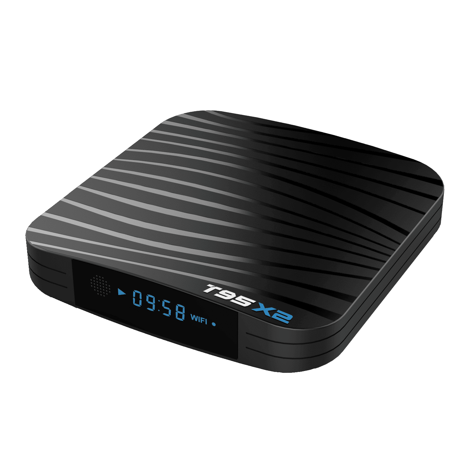 T95X2 Amlogic S905X2 Android 8.1 Oreo Smart TV BOX - Front Top Angle