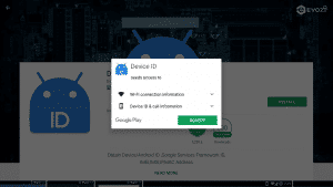 Accept Permissions For Evozi Device ID