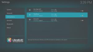 LibreELEC 8.0.2 LibreELEC Configuration b Connections Area Selecting WiFi Network