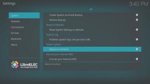 LibreELEC 8.0.2 LibreELEC Configuration c System Area Reboot to Android