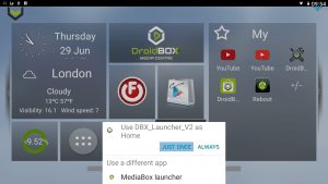 DroiX V3 Projector Launcher Selection Just Once