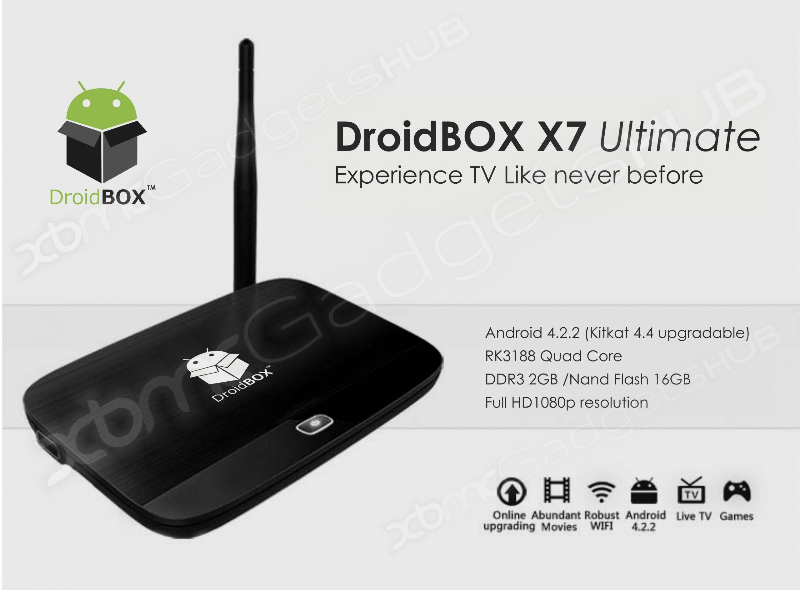 DroidBOX X7 Ultimate User Interface