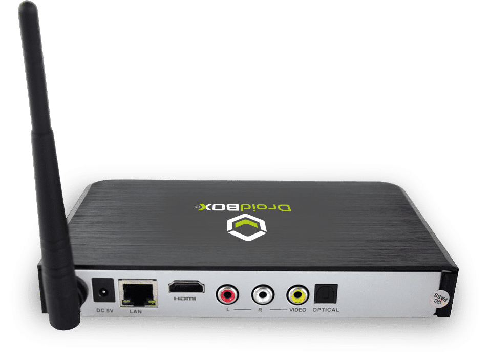 DroidBOX T8-S OpenELEC 16GB (Refurbished) rear view