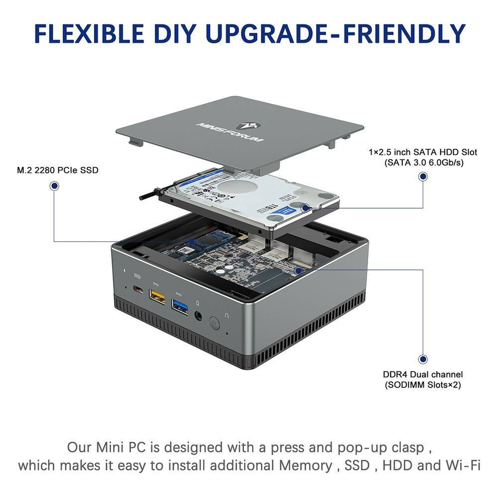 "MinisForum UM250 - Showing 2.5"" HDD/SSD Upgrade"