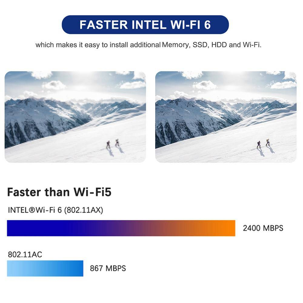 MinisForum UM250 - Showing wi-fi speeds