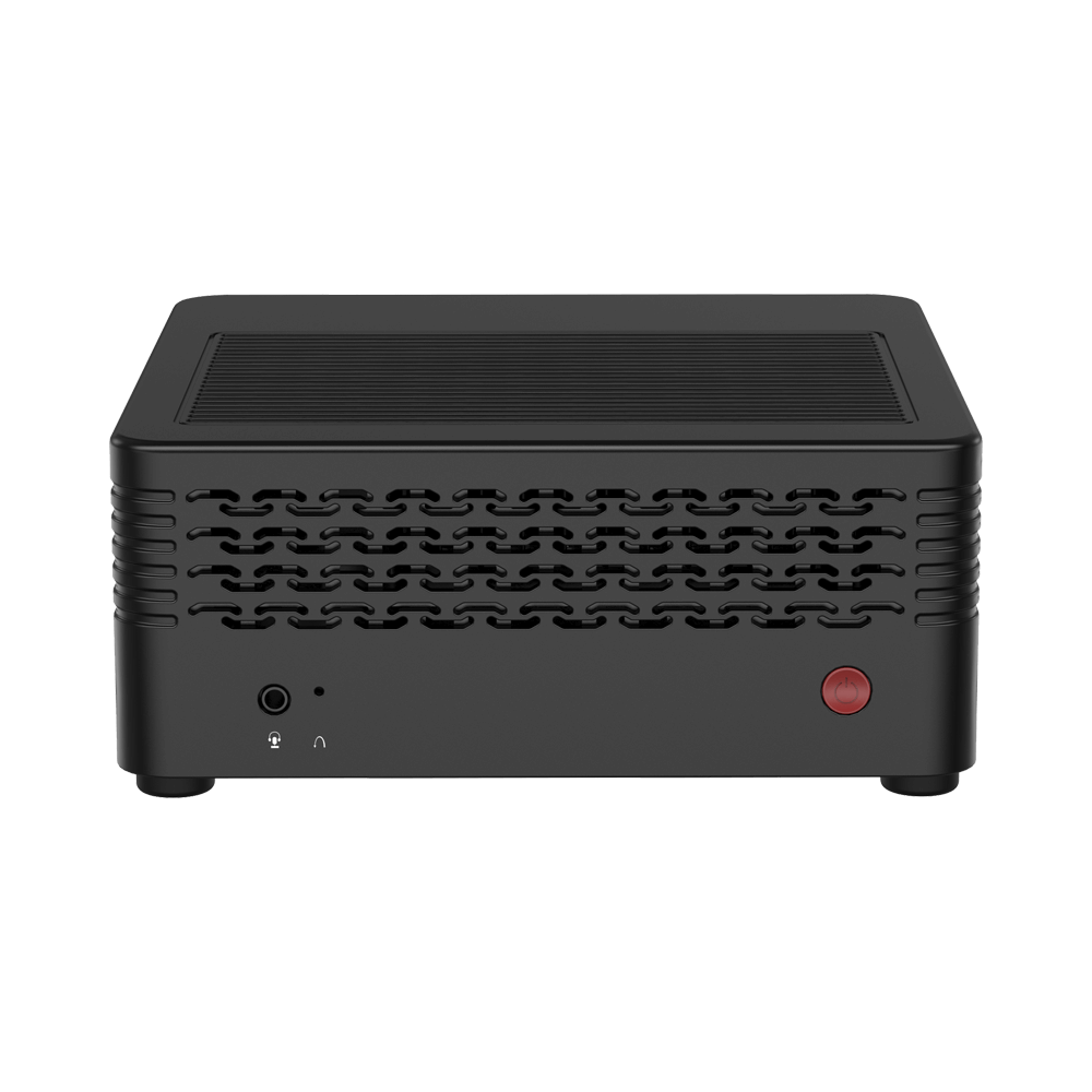 MINISFORUM H31 Mini PC - Shown from front, tilted angle