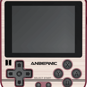 ANBERNIC RG280V Gold Retro Gaming Handheld - Showing front Buttons and Display