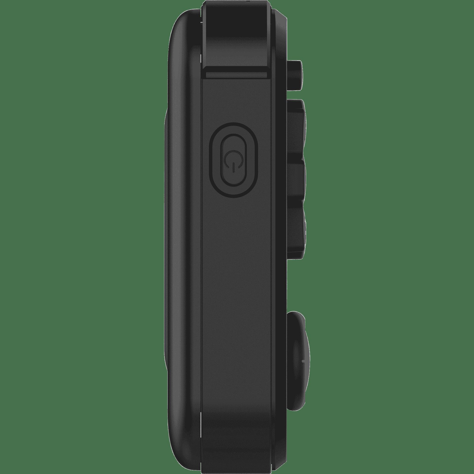 RG351P Black Retro Gaming Emulator - Showing left side Power Button