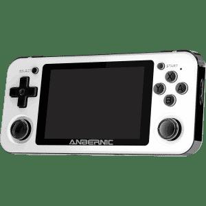 RG351P White Retro Gaming Emulator - Showing Front