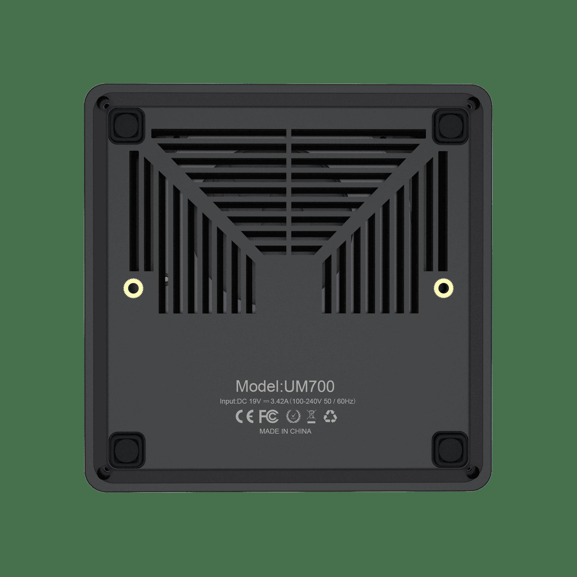 MinisForum EliteMini UM700 - Showing from bottom with vents