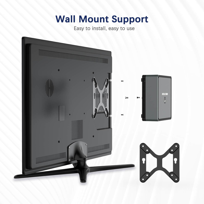 MinisForum EliteMini UM700 Showing Wall Mount Support