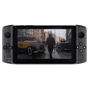 GPD WIN 3 i7 Space Grey New AAA Gaming Portable Handheld showing Mafia Game playing