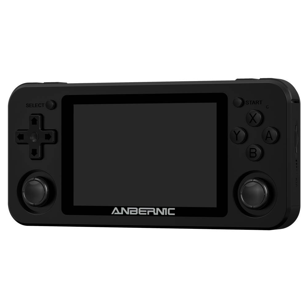 ANBERNIC RG351M Matte Black - Shown from the front